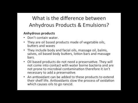 Are your products safe? How to use Preservatives, Antioxidants and Emulsifiers