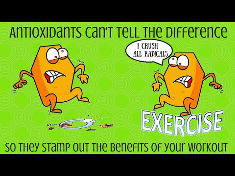 Antioxidants and exercise are NOT a good mix