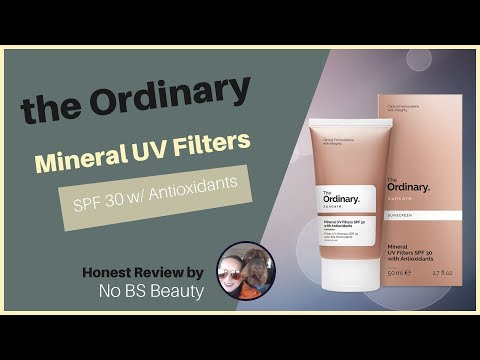 Deciem's The Ordinary 🆕 Mineral UV Filters SPF 30 Sunscreen with Antioxidants Review and Swatches