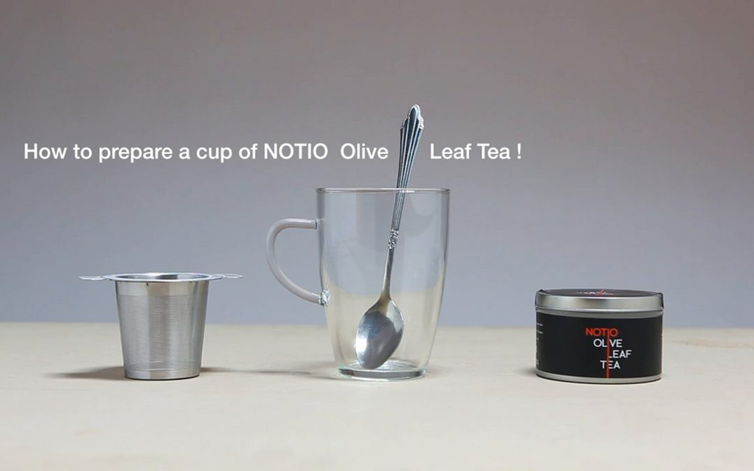 Making a perfect cup of NOTIO Olive Leaf Tea.